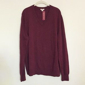 V neck light sweater XL